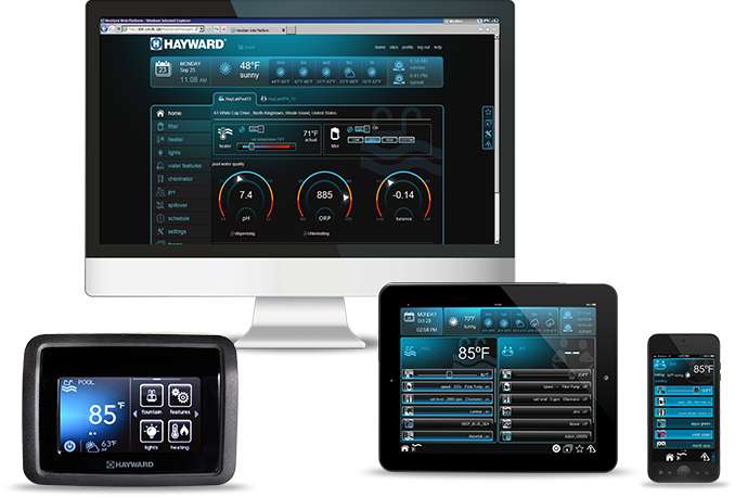 Hayward Omnilogic gives you the abilty to control your swimming pool from your computer or smart device.