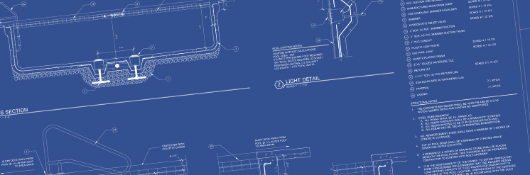 Swimming pool blueprints created by Eastern Aquatics