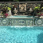 Luxury gunite swimming pool