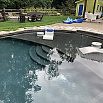 Gunite Swimming Pool with Tanning Ledge