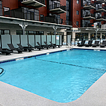 Commercial Gunite Swimming Pool located at the Mohawk Harbor